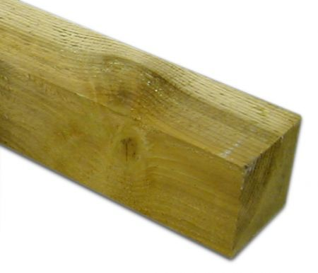 Softwood Post - 4in x 4in x 8ft (100mm x 100mm x 2.4m)