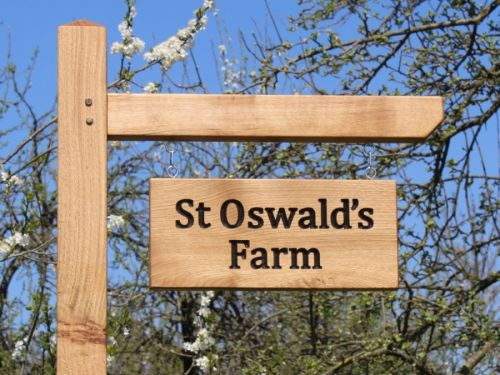 Large Hanging Sign + Oak Post and Arm