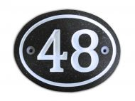 Oval Number Sign (Corian)