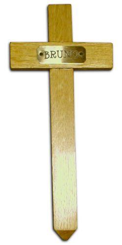Pet Memorial Cross (With Engraved Brass Plaque)