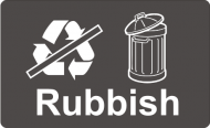 Recycling Sticker - Rubbish (non Recyclable)