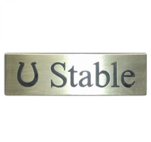 Stable Sign (Brass)