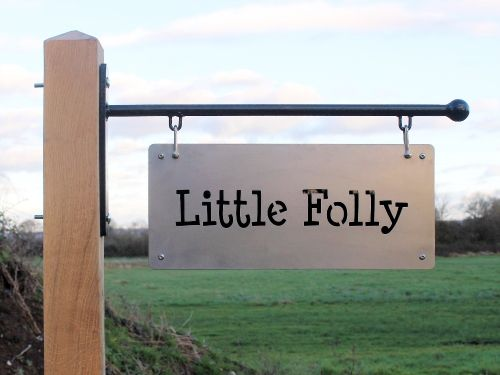 Stainless Steel Hanging Sign