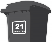 Wheelie Bin Labels - Address